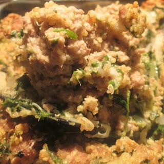Tasty Turkey, Quinoa, and Spinach Casserole