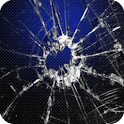 Cracked screen Live Wallpaper logo