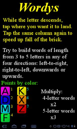 【免費解謎App】Wordys - Falling Letters-APP點子
