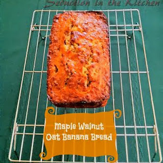 Maple Walnut Oat Banana Bread