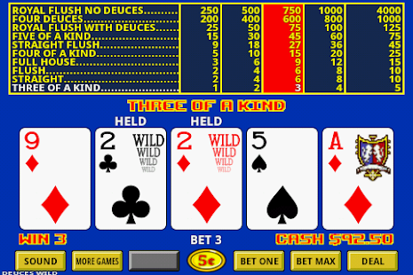Video Poker- screenshot thumbnail