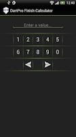 Screenshot of DartPro Finish Calculator