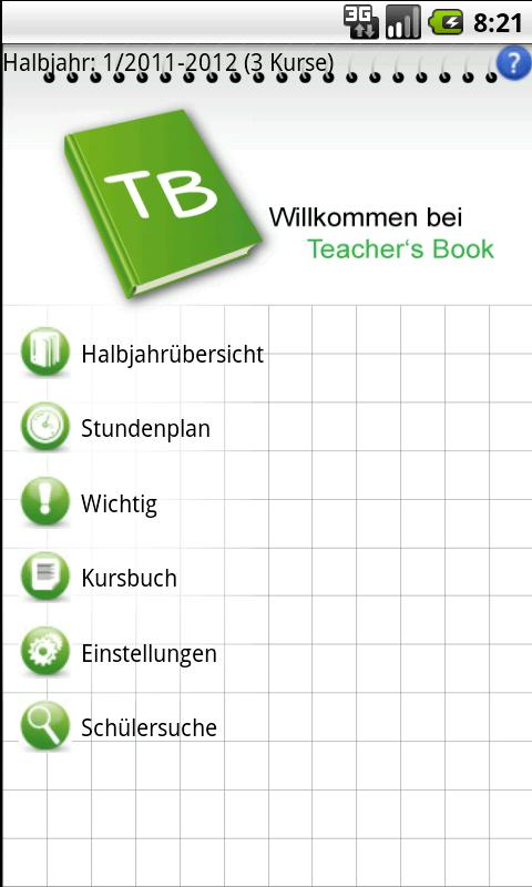 Teacher's Book - screenshot