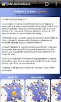 Screenshot of Météo Bordeaux