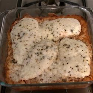 Baked Italian Chicken and Pasta.