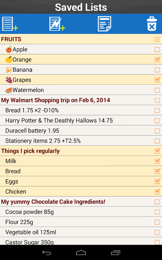 Screenshots of Shopping List for Grocery for iPhone