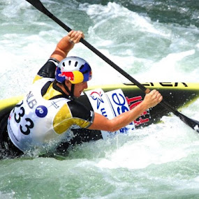 White water kayaking by Tina K - Sports & Fitness Watersports ( water, water sport, sport, whitewater, paddle, kayaking )