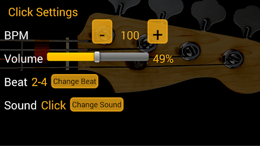 Bass Guitar Tutor Pro v75 (More bass lines)