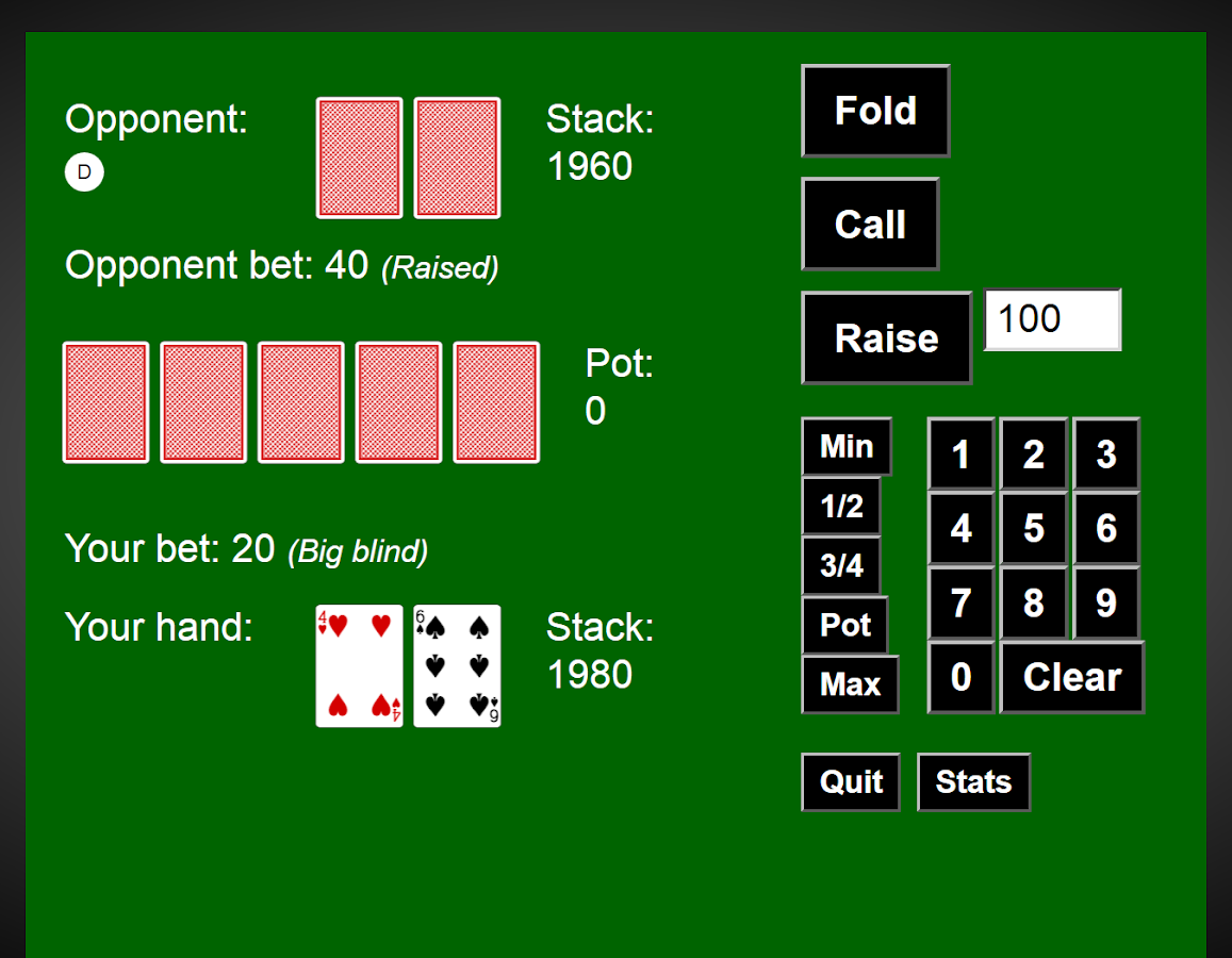 Play poker heads up online free