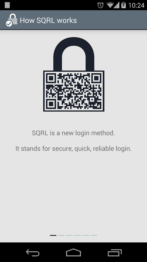 SQRL- screenshot