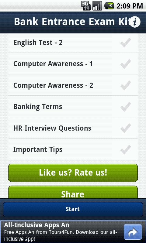Bank PO Exam/Interview Kit - screenshot