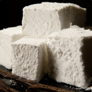 Homemade Vanilla Marshmallows.