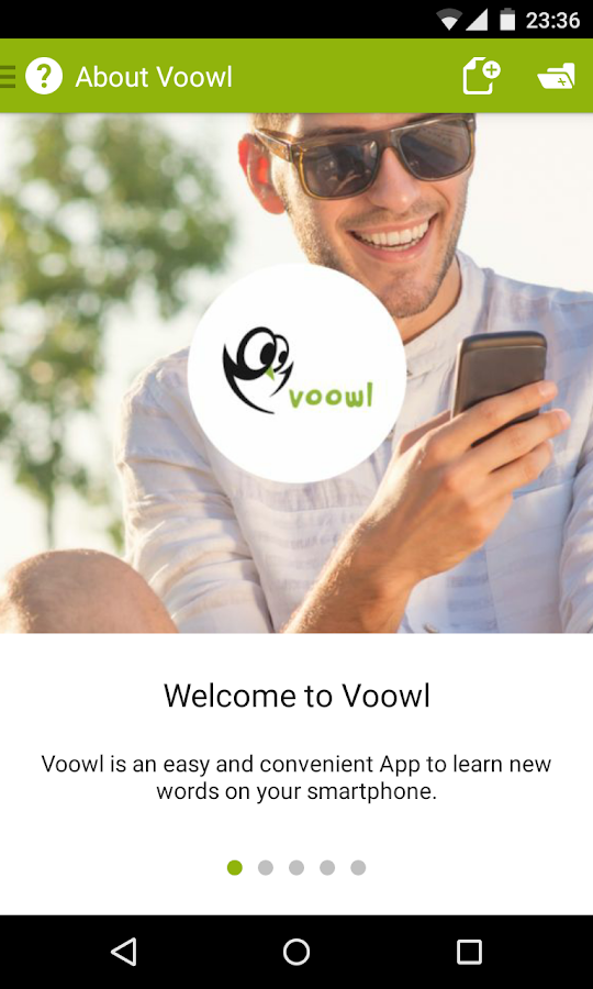 Voowl - learn foreign words - screenshot
