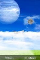 Screenshot of Blue Sky Live Wallpaper