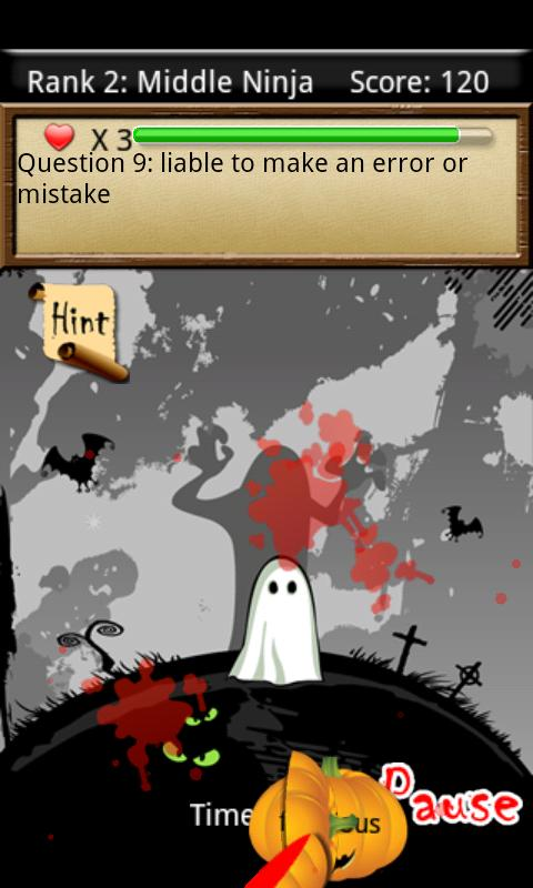 Vocab Ninja - Halloween Free - screenshot