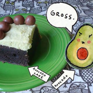 Chocolate Avocado Cake With Avocado Buttercream