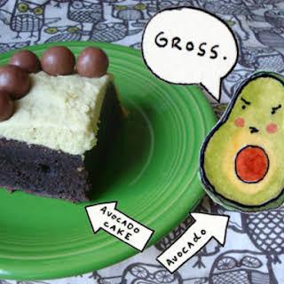 Chocolate Avocado Cake With Avocado Buttercream.
