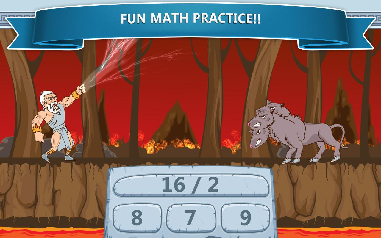 Math Games - Zeus vs. Monsters- screenshot