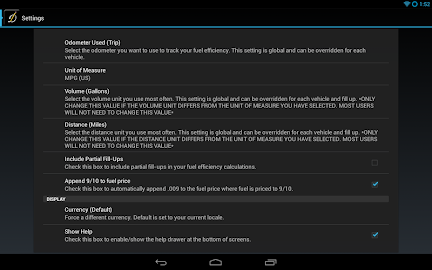 DriverDiary - Gas Mileage Screenshot 20