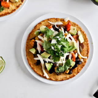 Roasted Garlic + Veggie Tostadas