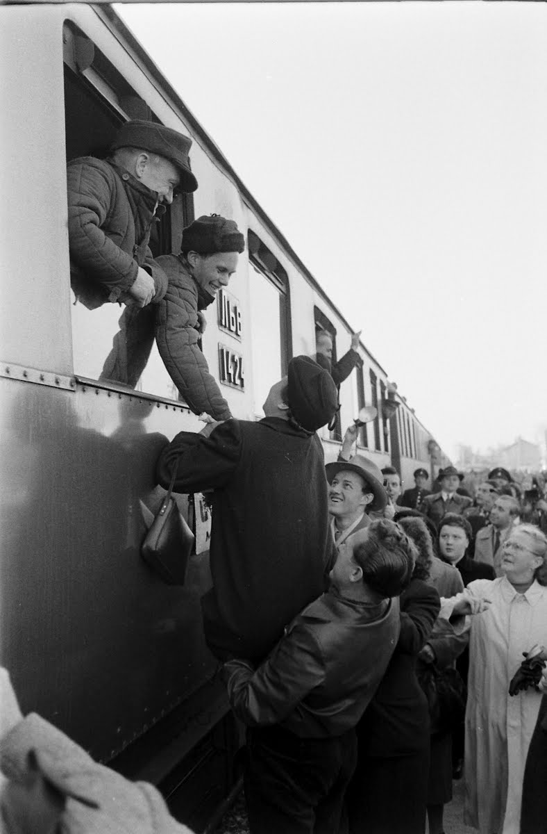 Returning Austrian War Prisoners Reaching Vienna From Russia