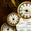 Gold Clock Live Wallpaper HD icon