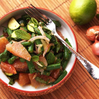 Spicy Thai-Style Pomelo, Green Bean, and Zucchini Salad