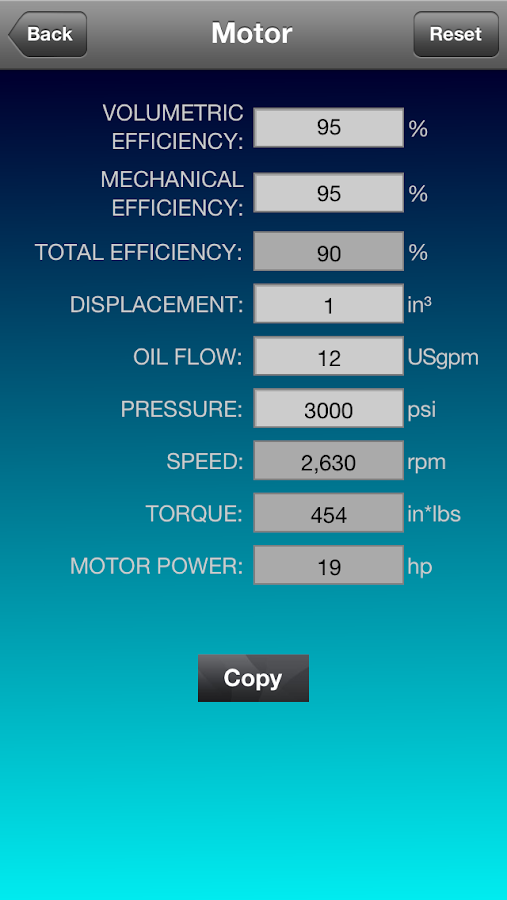 Hydraulic Calculator - screenshot