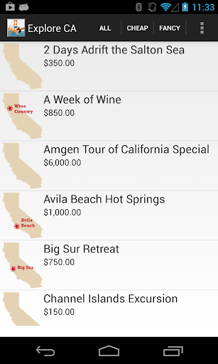 Explore California Tour Finder