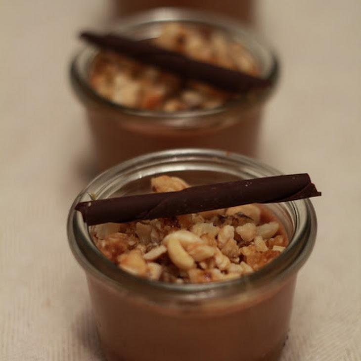 Express, No Bake Chocolate Pots de Creme with Salted Butter Caramel Sauce