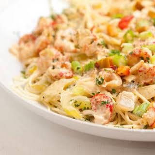 Pasta with Louisiana Crawfish or Shrimp.