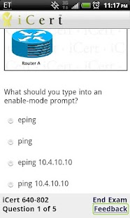 iCert Practice Exam for CCNA - screenshot thumbnail