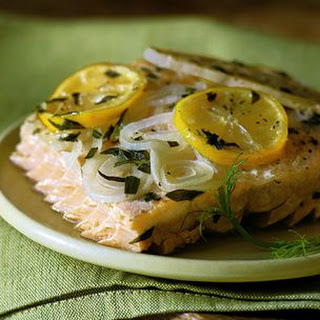 Smoke-Grilled Salmon with Fennel and Tarragon