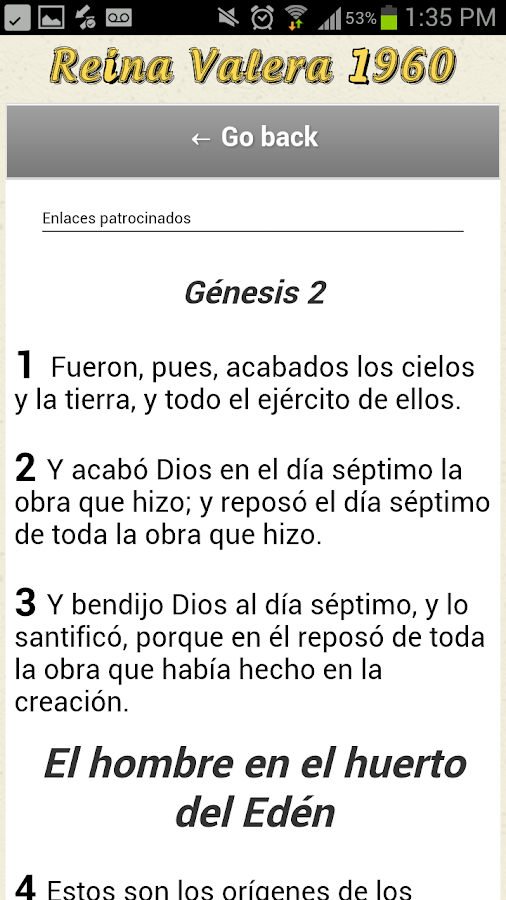 Biblia Reina Valera 1960 - screenshot