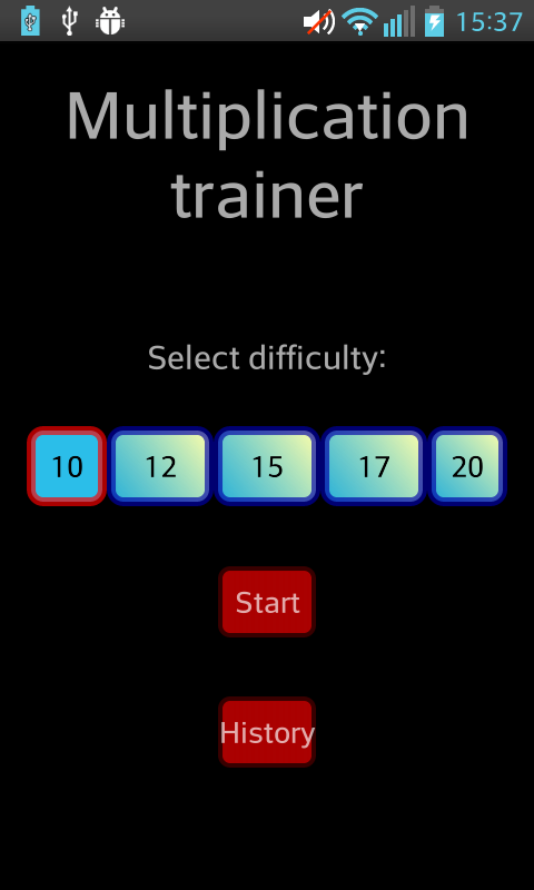 Multiplication Trainer - screenshot