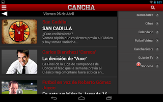 Screenshot of CANCHA