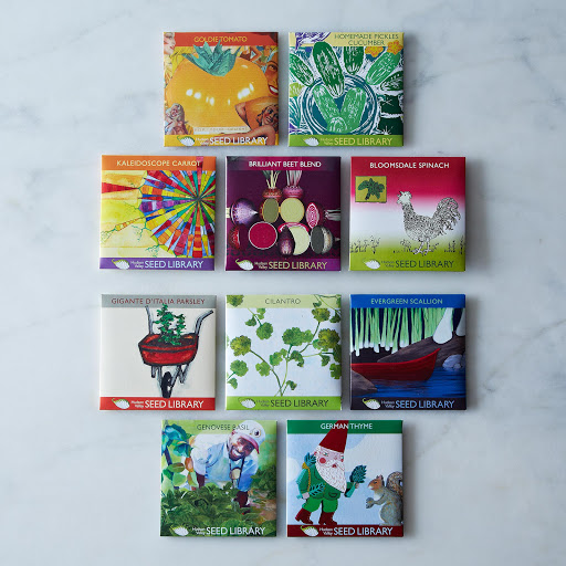 Heirloom Seed Art Packets, Herbs & Vegetables (Set of 5)