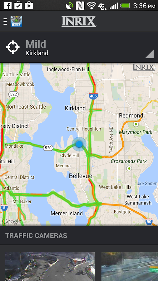 INRIX Traffic, Maps & Alerts - screenshot