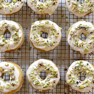 Baked Brown Butter and Pistachio Doughnuts