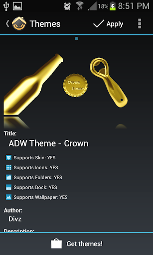 ADW Theme Crown Cap Collection