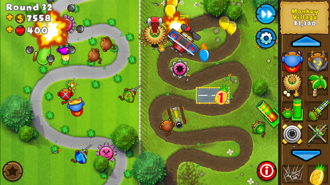 #9. Bloons TD 5 (Android)