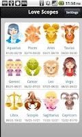 Screenshot of Love Horoscopes