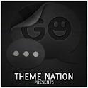 GO SMS Theme Dark Metal icon