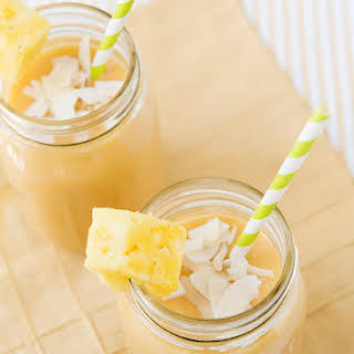 Almond Breeze Tropical Morning Smoothie.