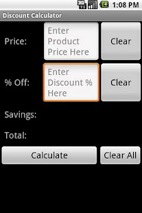 Simple Discount Calculator - screenshot thumbnail
