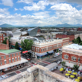 Rooftop on Center by Nathaniel Jorge - City,  Street & Park  Markets & Shops ( mountains, hdr, va, roanoke, city market, downtown )