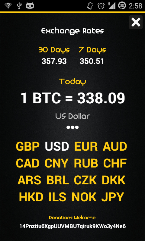 Bitcoin Prices- screenshot