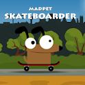 Madpet Skateboarder logo