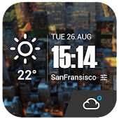 Lock Screen Style Clock Widget