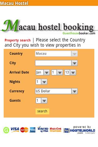 Macau Hostel Booking